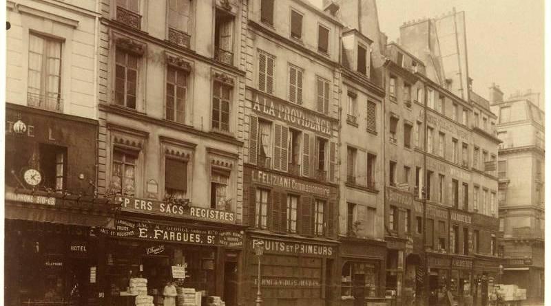 Maison de la rue de la Lingerie - photographie par Eugène Atget en 1907
