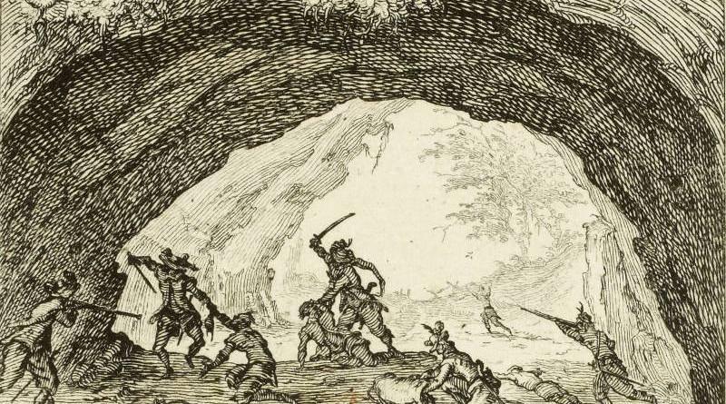La caverne des brigands par Jacques Callot - 1617