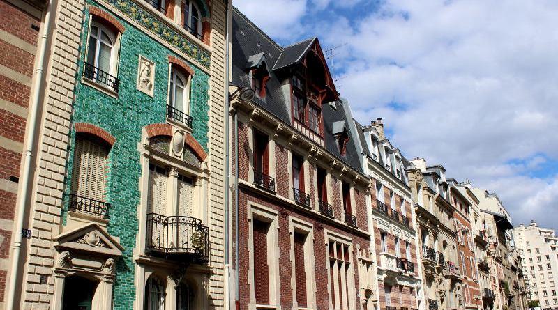 façades de la rue Eugène Flachat