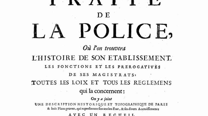image du traité de la police de Nicolas Delamare