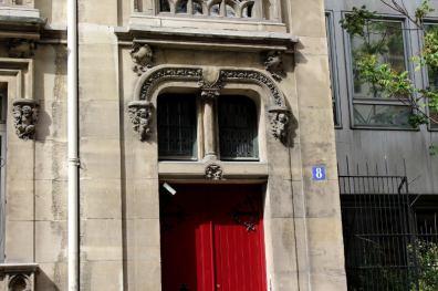 porte de l'hôtel de Gaston Aubry 8 rue Eugène Flachat