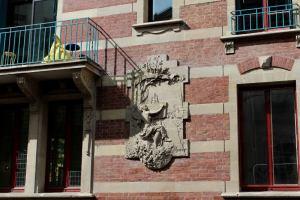 sculpture de l'hôtel particulier par Jean Brisson
