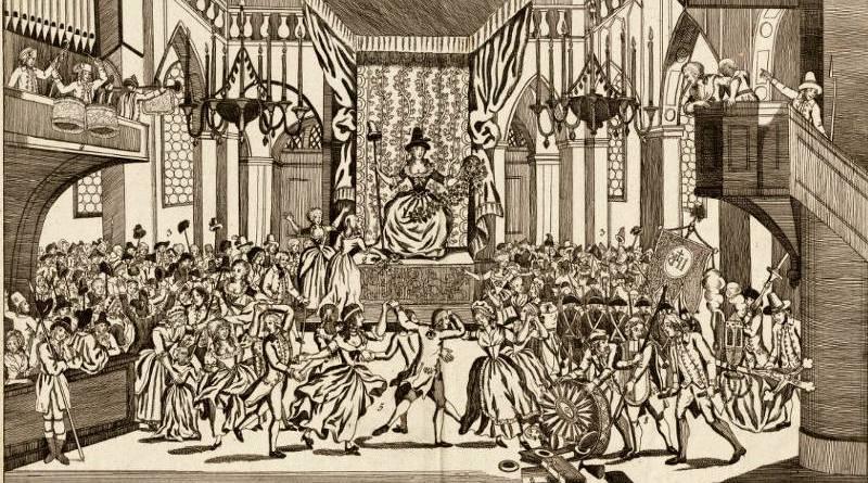 fête de la Raison à Notre de Paris en 1793