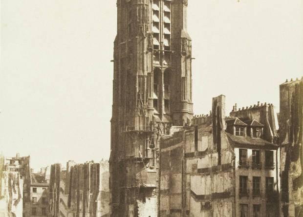 La Tour Saint-Jacques - Façade sur la rue de Rivoli par Henri le Secq en 1853