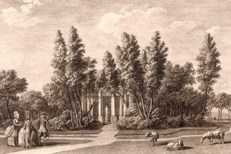 temple de marbre blanc du jardin du duc de Chartres