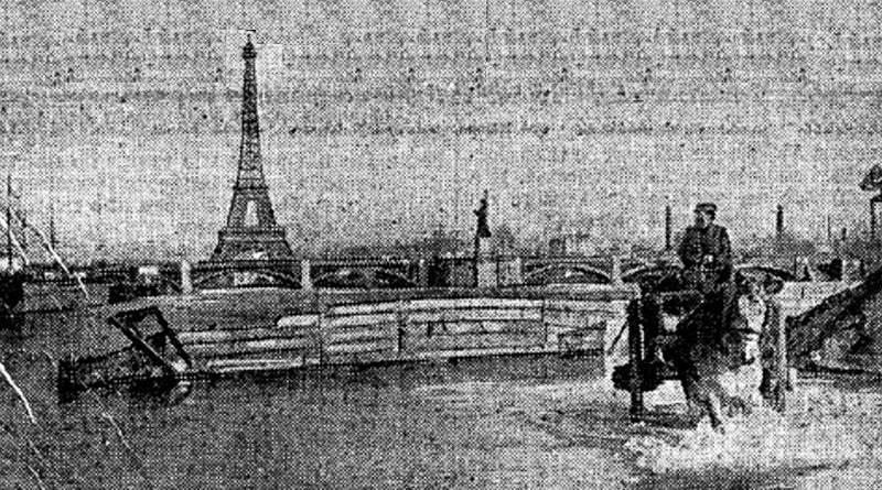 Seine en crue au delà du pont de Grenelle - petit journal du 22 janvier 1910