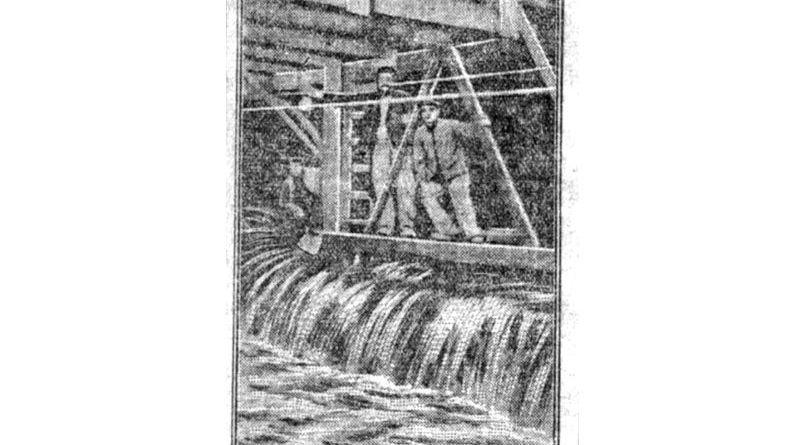 inondation du Nord Sud a la station Assemblée nationale - Petit Parisien du 22 janvier 1910