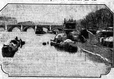 le début de la crue de 1910 - Journal le Matin du 21 janvier