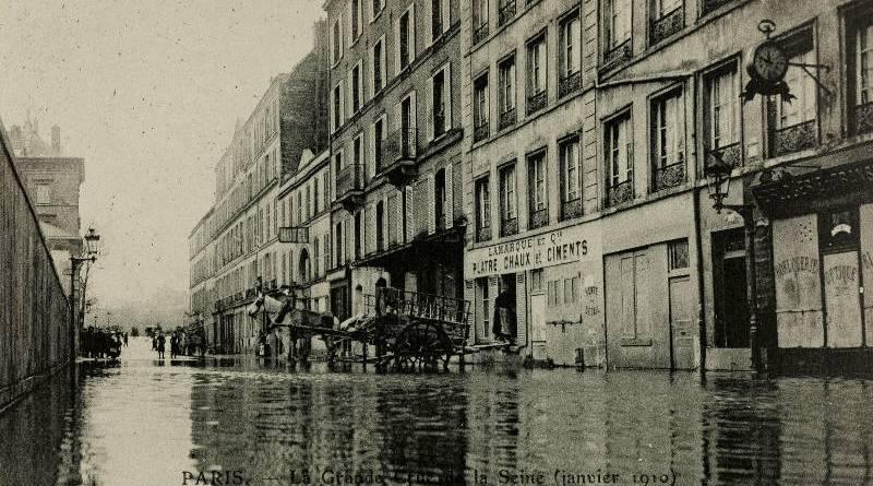 Inondation de la rue Surcouf en janvier 1910