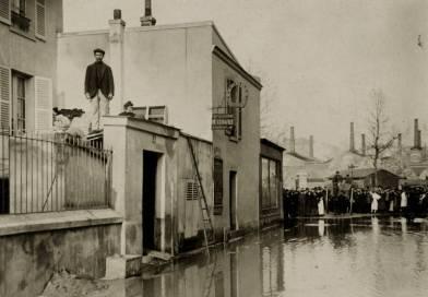 rue Félicien David lors de la crue de 1910