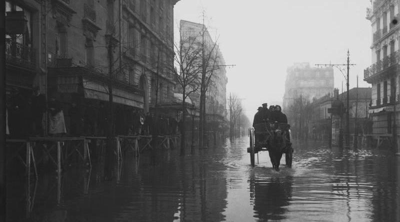 rue de la Convention le 29 janvier 1910