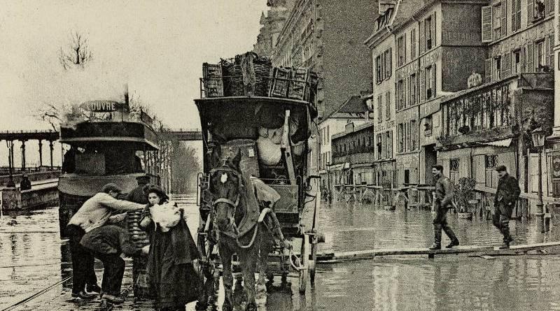 Inondation du quai de Passy, un déménagement