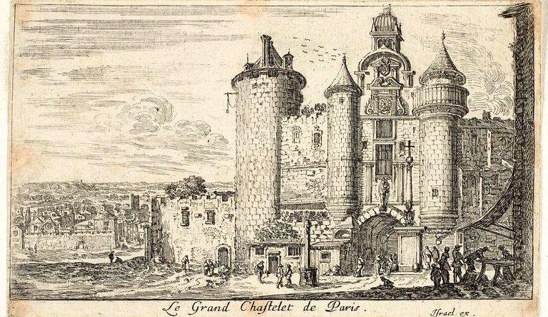 Le grand Châtelet gravé par Israel Silvestre - Louvre