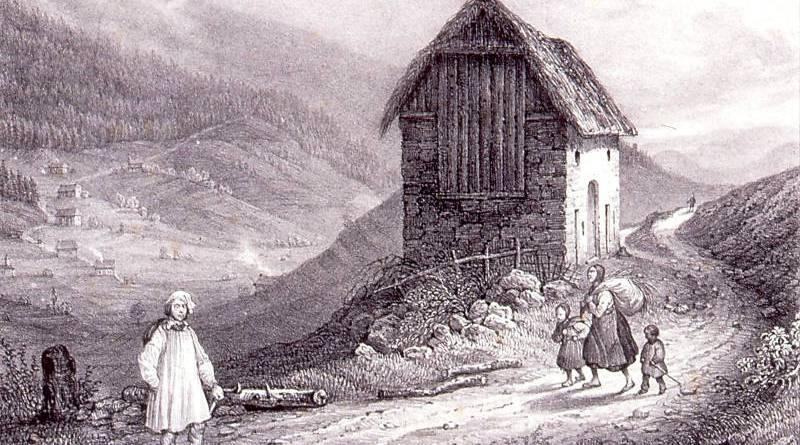 La hutte près du Champ du Feu par Théodore Muller