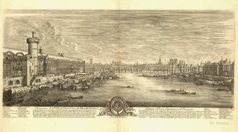Perspective de la ville de Paris, veue du Pont des Tuileries par Israel Silvestre