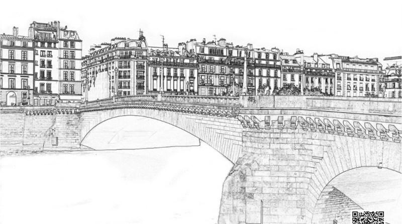 coloriage du pont de la Tournelle vDEF
