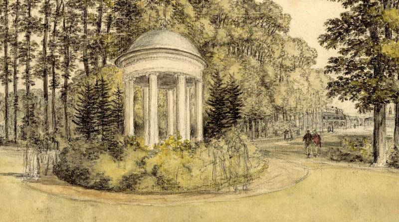 dessin du Parc Monceau au début du XIXe siècle