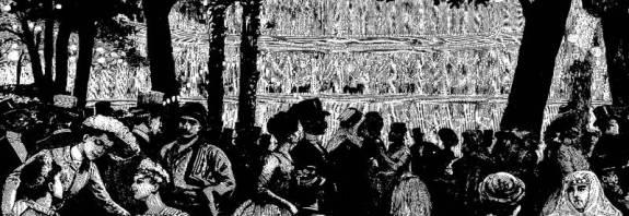 la fête du Parc Monceau du 20 juin 1889 par Paul Destez - Journal illustré du 29 juin 1889