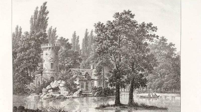 Hameau de Mesdames - Ruines dans le parc de Bellevue par Louis Albert Ghislain de Bacler d'Albe