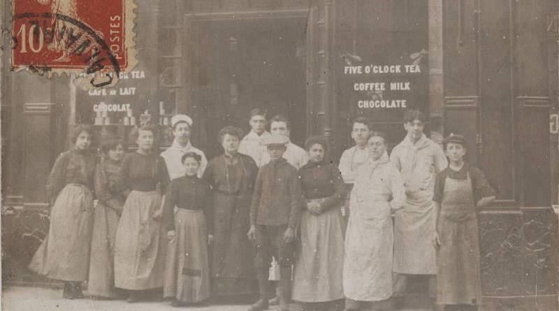 Salon de thé, boulanger. Maison Poitrey, 1, rue du Havre, et 129, rue de Provence