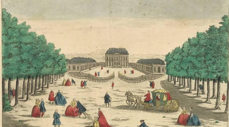 Vuë du Château de Bellevue à 2 lieux de Paris
