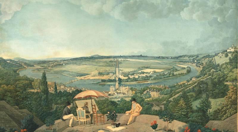 Vue de Paris depuis la terrace du Pavillon de Brimborion par Carle Vernet