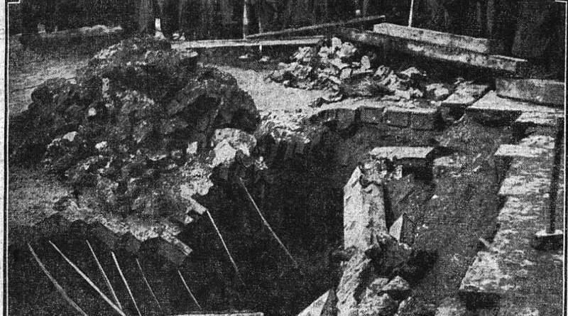 cratère de la rue Lafayette dans le Matin du 30 janvier 1910