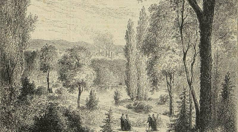 square des Batignolles - dessin de Lancelot