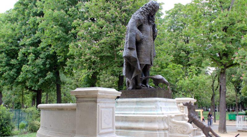 statue de La Fontaine du jardin du Ranelagh