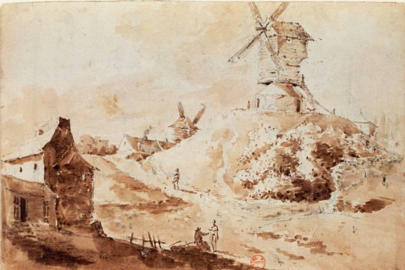 Autre vue prise à Montmartre les moulins