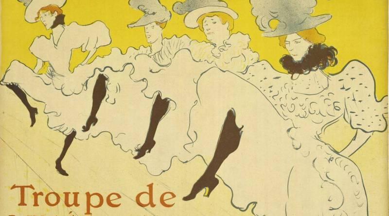 Toulouse Lautrec à Montmartre - Troupe de Mademoiselle Eglantine affiche par Toulouse Lautrec