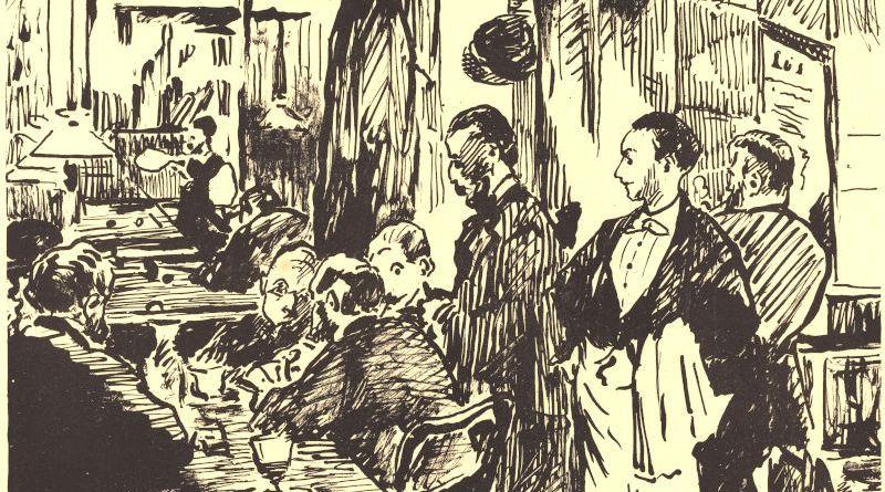 Au café Guerbois par Edouard Manet