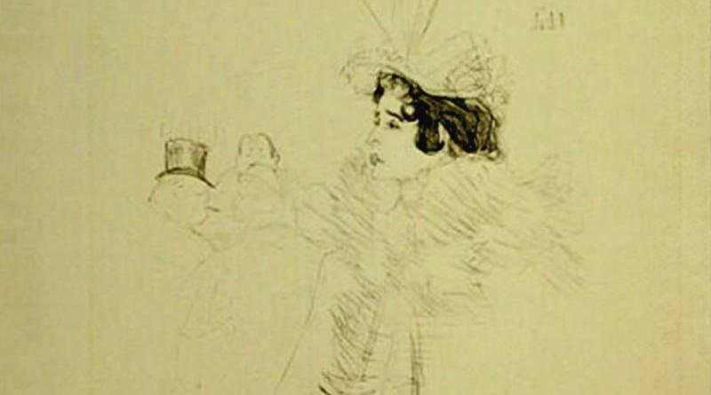 Miss May Belfort au Bar Achille par Henri de Toulouse Lautrec