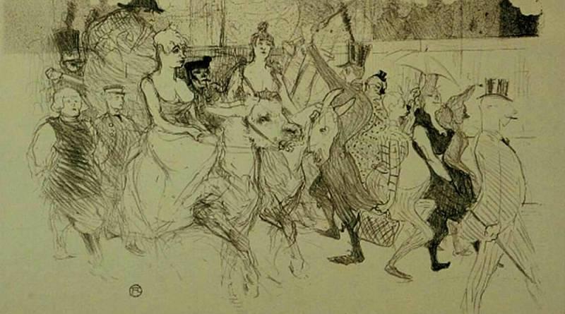Une redoute au Moulin rouge par Toulouse Lautrec