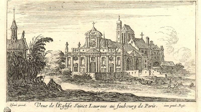 Vue de l'église Saint Laurent au faubourg de Paris