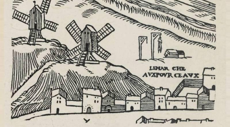 la butte Saint Roch d'après le plan de Truchet - 1551