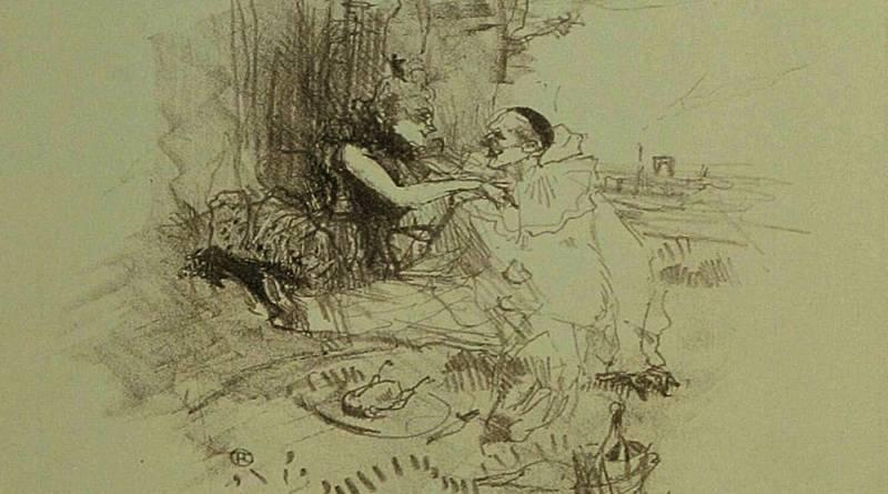 le pique nique par Toulouse Lautrec