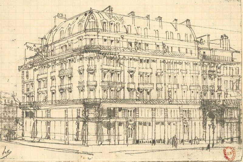 Magasin de Pygmalion rue de Rivoli et b.d Sebastopol par Hubert Clerget