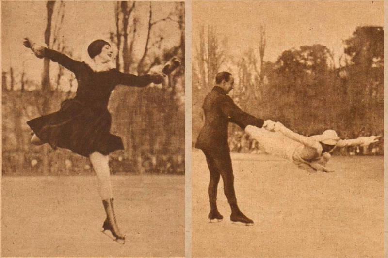 La fête de patinage au bois de Boulogne de 1929
