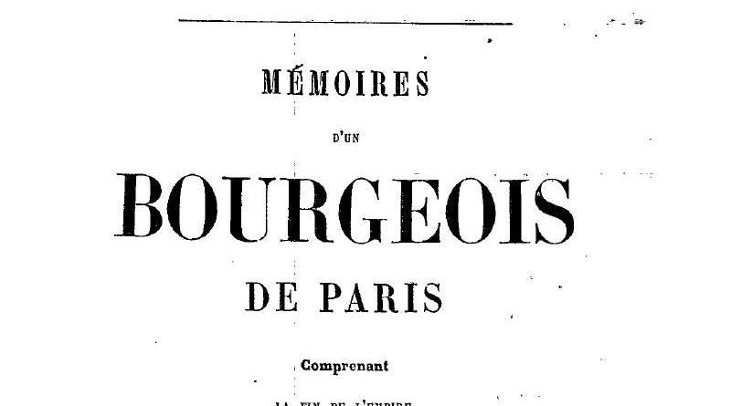 premiere page des mémoires d'un bourgeois de Paris de Louis Véron