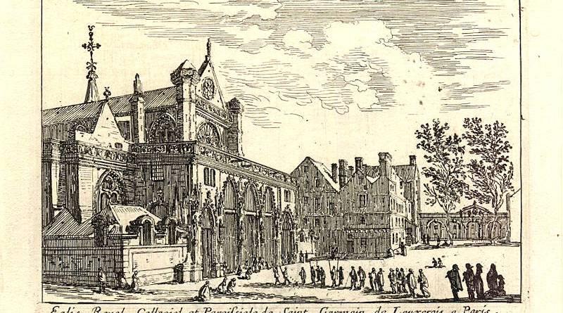 Eglise Royale Collegiale et Paroissiale de Saint Germain de L(auxerois à Paris par Israël Silvestre - Numélyo