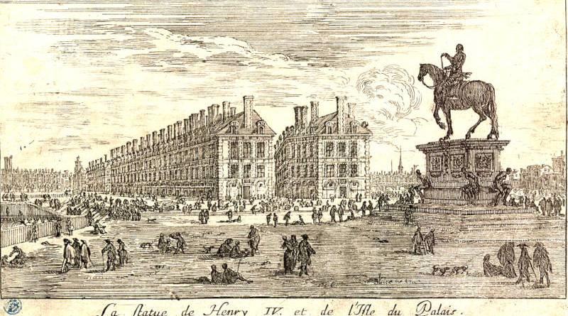 La statue de Henri IV et l'Ile du Palais