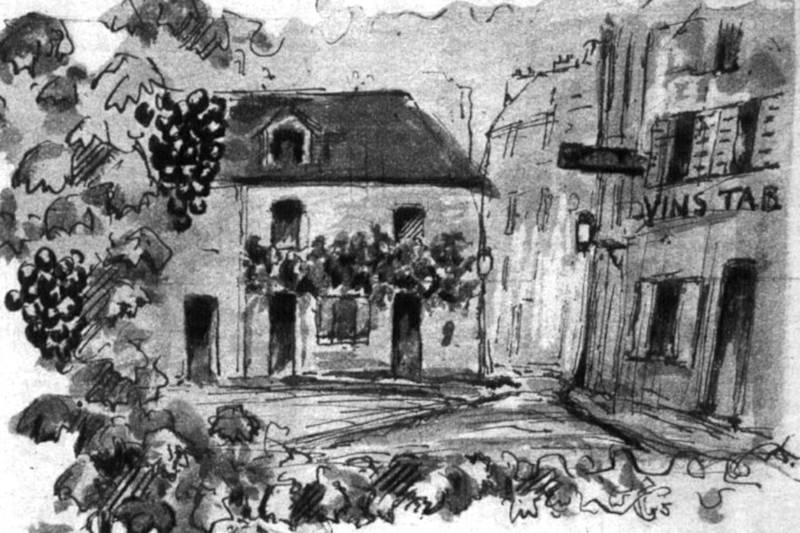 la vigne de la rue Norvins à Montmartre