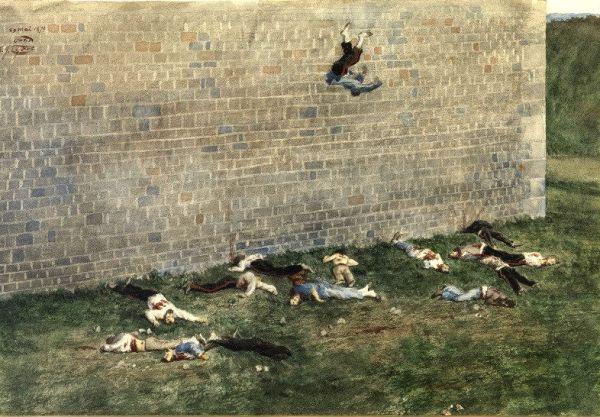 Execution de communards au Bois de Boulogne par James Tissot