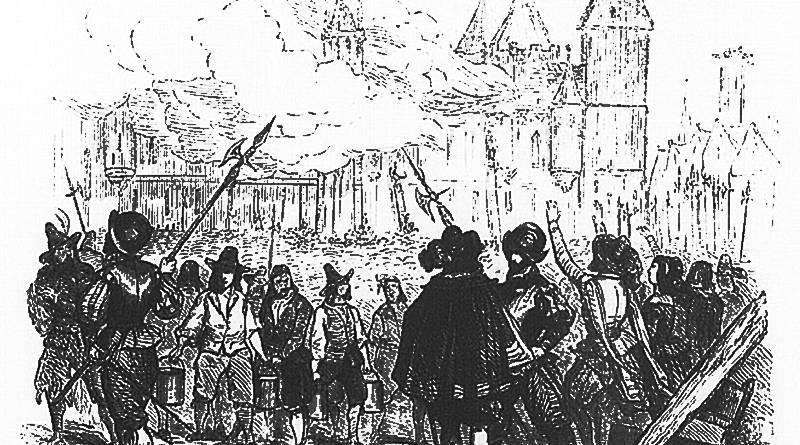 L'incendie du Palais de Paris extrait d'Illustrations de Les rues de Paris ancien et moderne