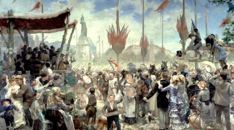 Inauguration du monument à la République le 14 juillet 1880 par Alfred Roll
