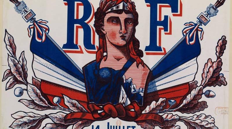 Souvenir de la Fête nationale, distribution des drapeaux, 14 juillet 1880