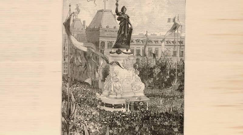 inauguration de la Statue de la République le 14 juillet 1883 - extrait du Monde Illustré du 21 juillet 1883