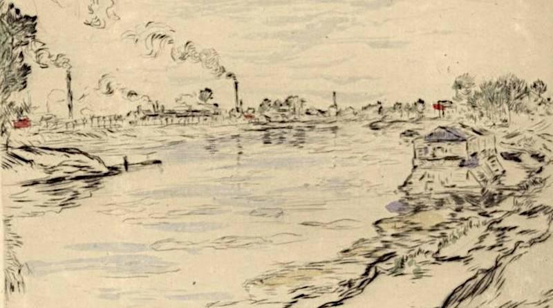 La Seine à Asnières par Jean Francois Raffaëlli
