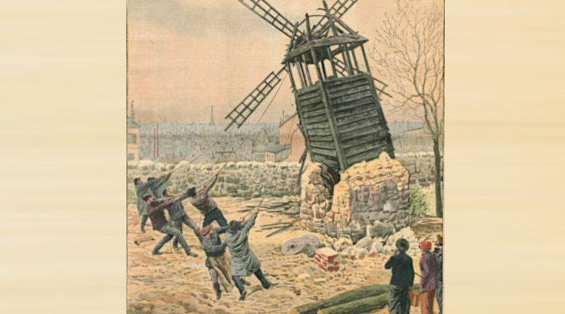 Démolition du moulin à poivre - extrait du Petit Journal du 17 décembre 1911